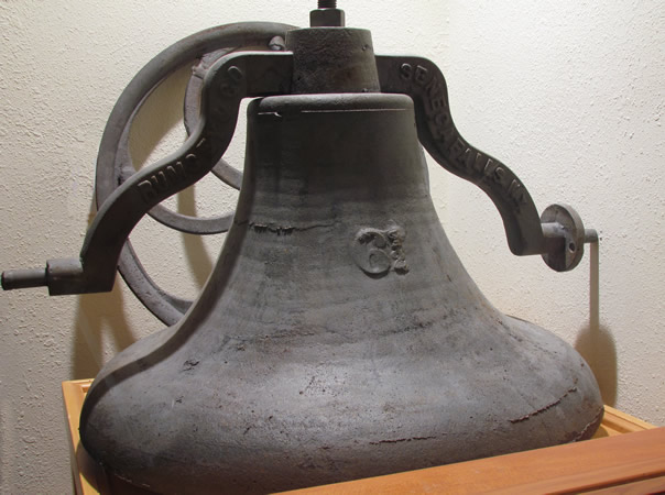 Church bell, brought around Cape Horn to Sequim.