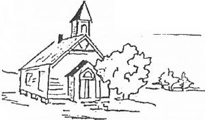 Dungeness Valley church, 1895