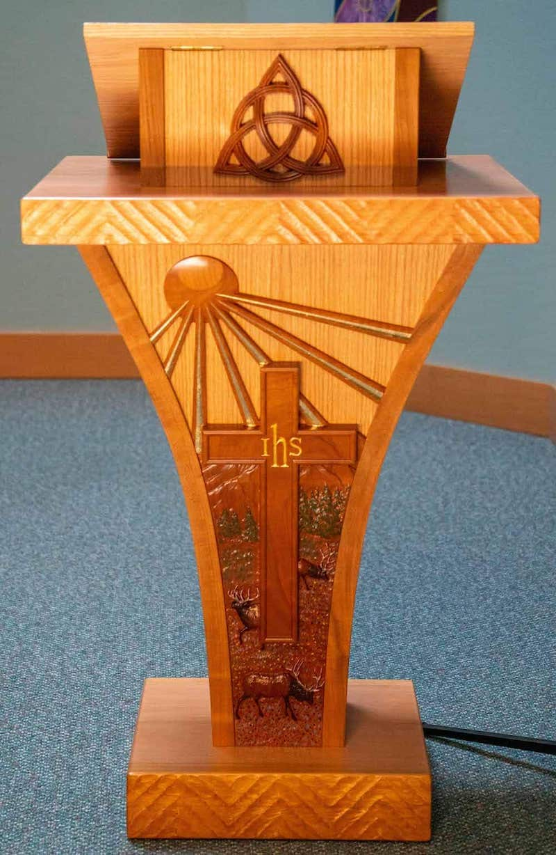 New Trinity United Methodist Church pulpit