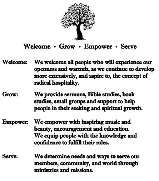 Trinity United Methodist Church mission statement